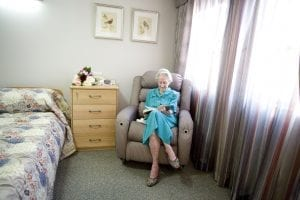resident in room